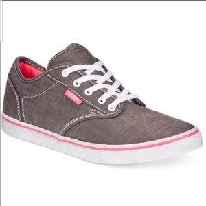 Vans TB4R Sneakers Gray And Pink Sz 7.5